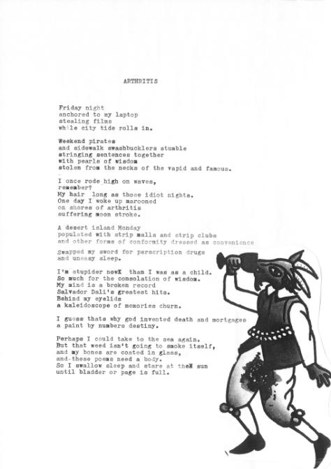 Dominic Hoey, Tourettes, poem