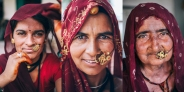 Women from Chittorgarh District in Rajasthan, India