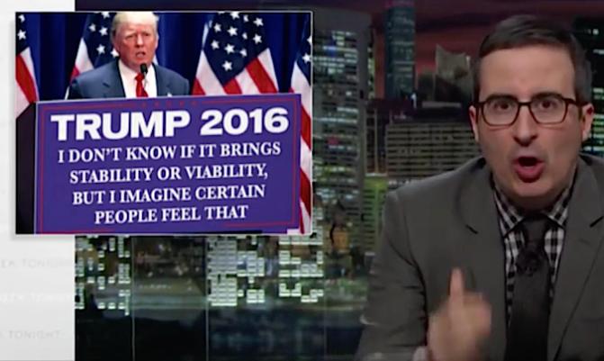 John Oliver, Donald Trump, Impolitikal