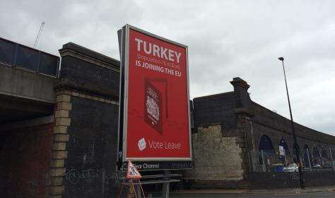 Brexit, Manchester billboard